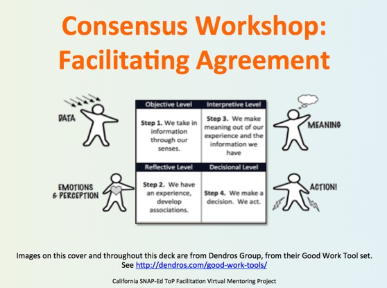 4 Facilitate Consensus Workshop