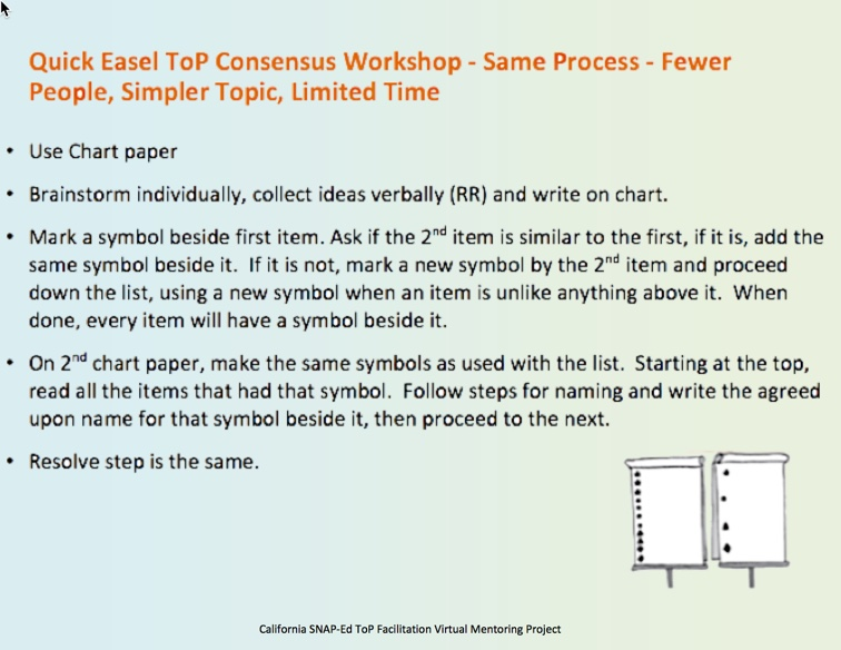 instructions for the easel consensus workshop